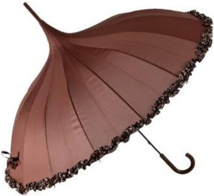 chocolate brown Junction 18 umbrella available on eBay