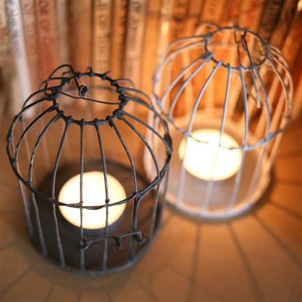 Birdcage candle holders from Prety Dandy