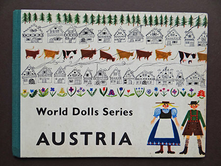 vintage 'Austria' book from the World Dolls Series