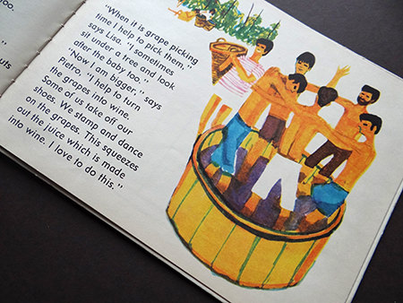 Grape-pickers in 'Italy' the vintage World Dolls series of books