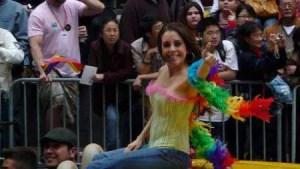 Karyme Lozano at the San Francisco Gay Parade 2008