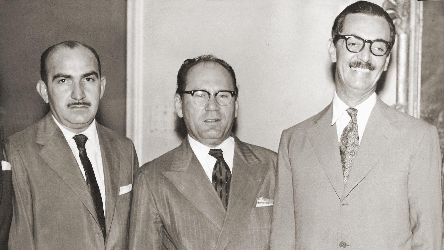 Segismundo Andrade, Freitas Cavalcante e Jânio Quadros