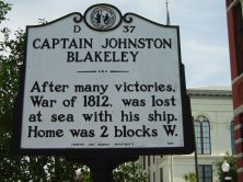 American Historical Marker in North Carolina - Captain Johnston Blakeley