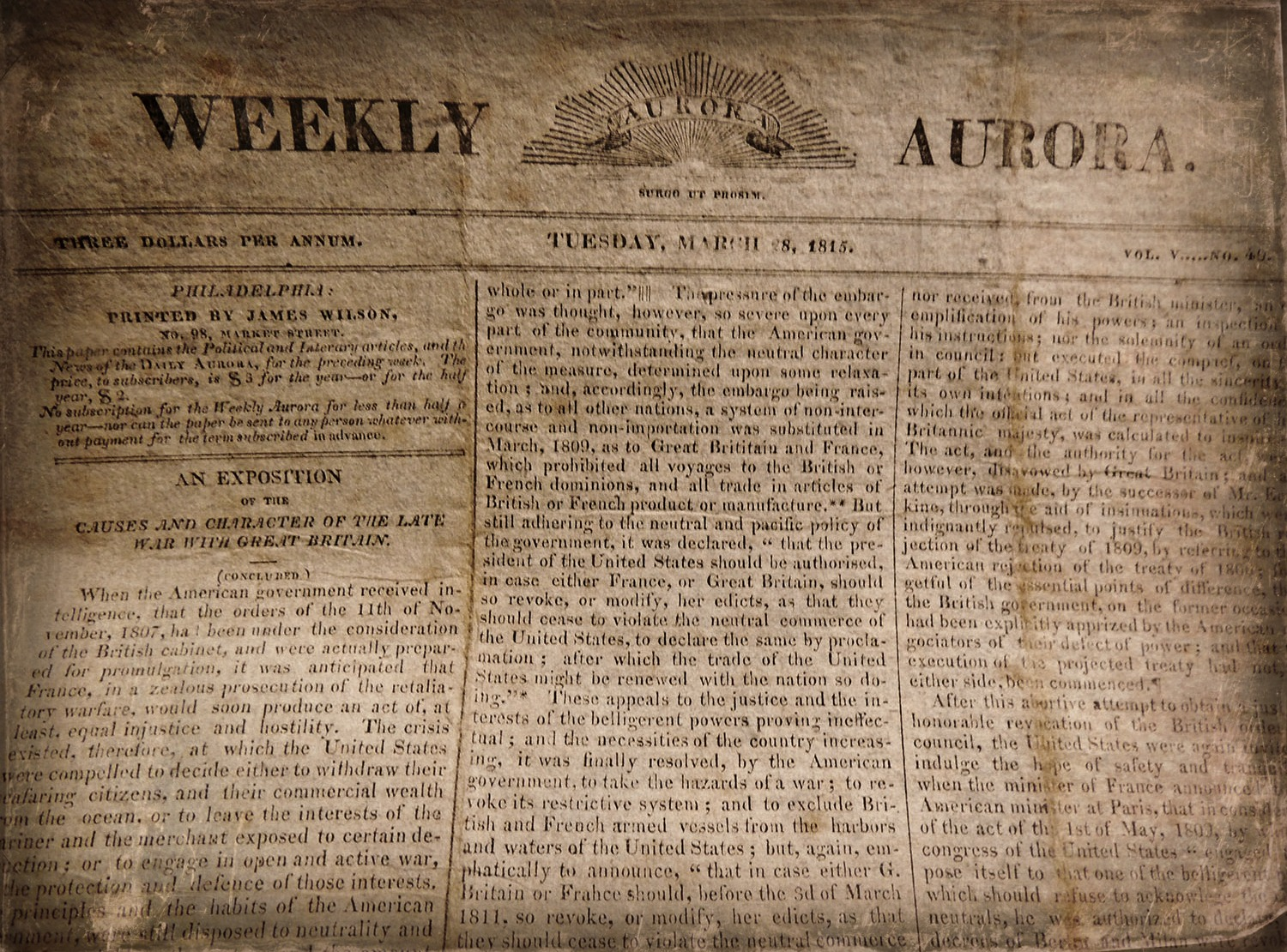 british historia obscura the weekly aurora of philadelphia