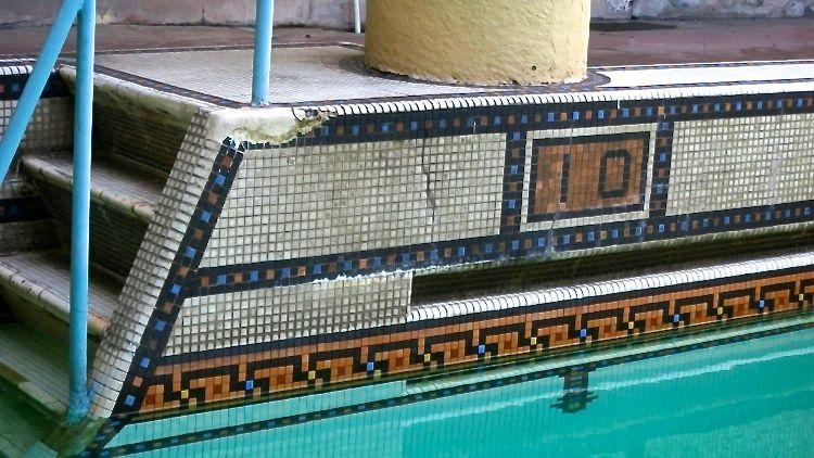 Pool tile-10 depth