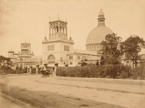 Photo courtesy of the Powerhouse Museum - The Garden Palace: Macquarie Street entrance of the Garden Palace