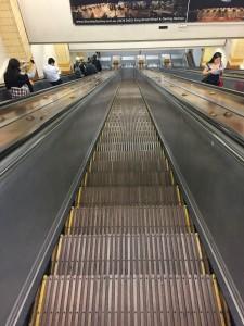 Riding the Wynyard escalators