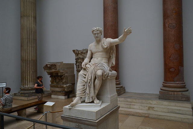 Pergamon Museum, Berlin: 2nd century statue of Roman emperor Claudius. - Photo by Ptwo / Flickr
