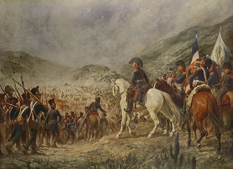 The Battle of Chacabuco   History Today The Battle of Chacabuco by Pedro Subercaseux  19th century       Bridgeman  Images