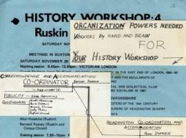 History Workshop 4