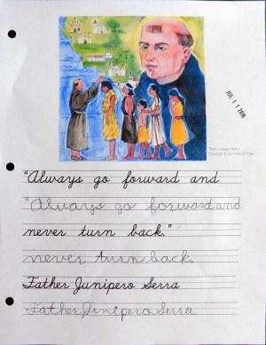 Father Serra copywork