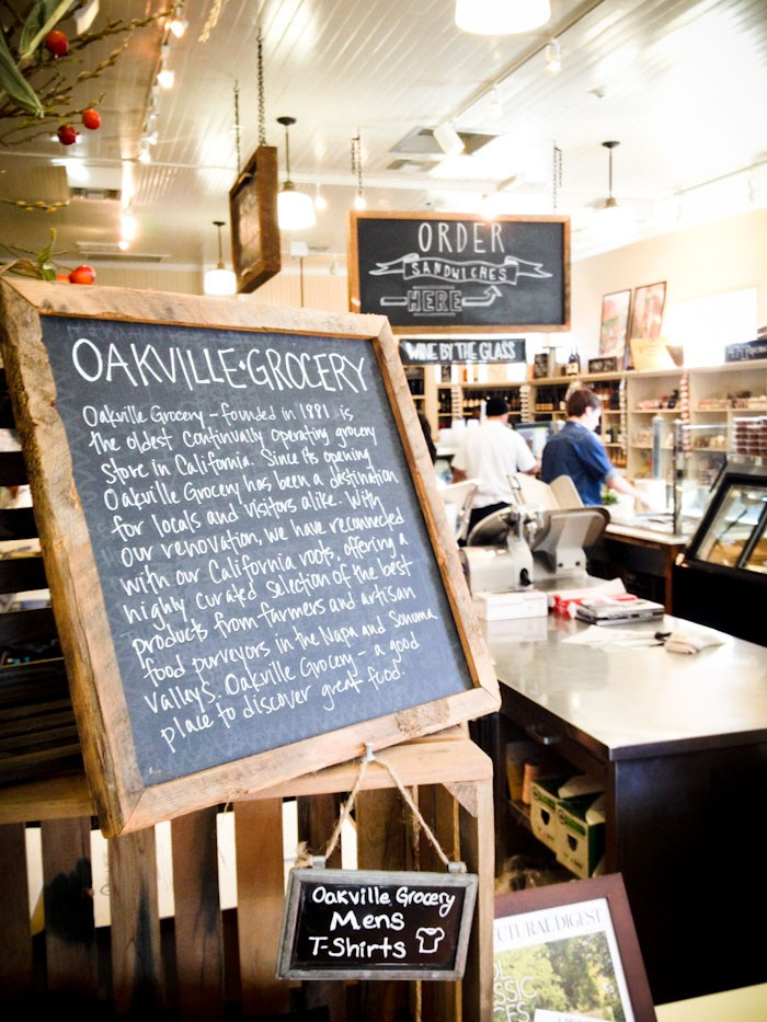 travel california  Napa Valley must: Oakville Grocery
