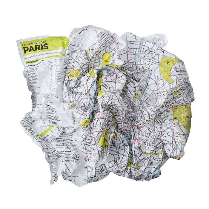 travel etc  Crumpled City Maps (and some Friday links)