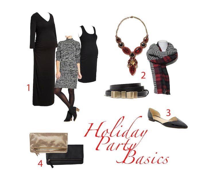 style  Holiday Party Basics (Maternity Edition)
