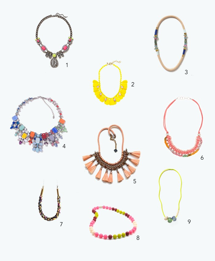 style  Bright and Bold Necklaces for summer