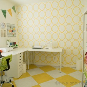 Yellow Craft Room