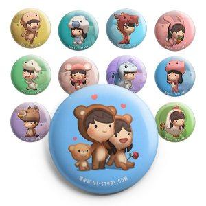 Asian Zodiac Magnet set A
