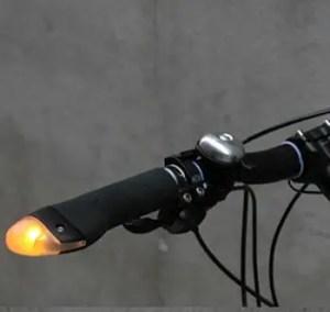 Blinker grips bike grip lights