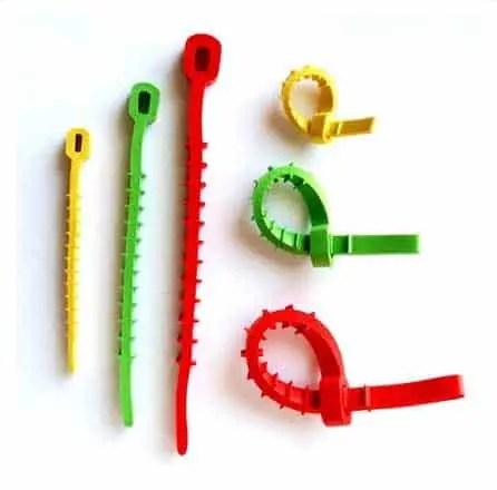 Q knot reusable zip ties