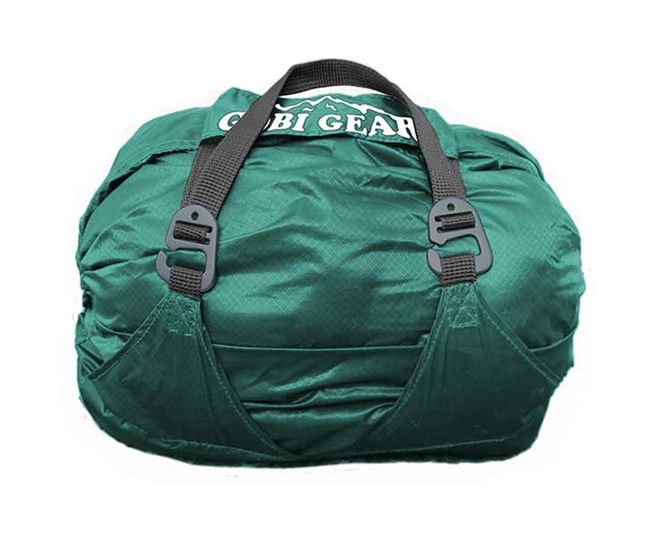 Hoboroll compression bag with extra pockets