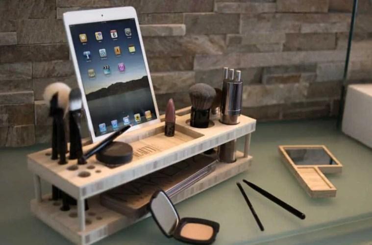 Taylor-Beauty-Station-tablet-holding-makeup-organizer