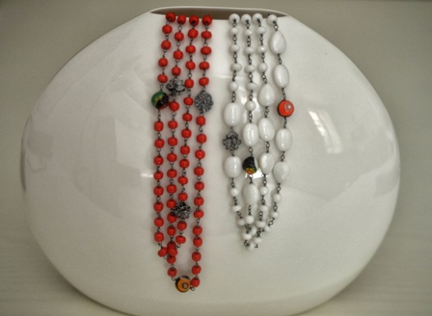collana rossa murano collection