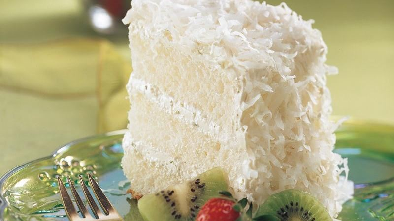 Key Lime Coconut Angel Cake | Holiday Cottage