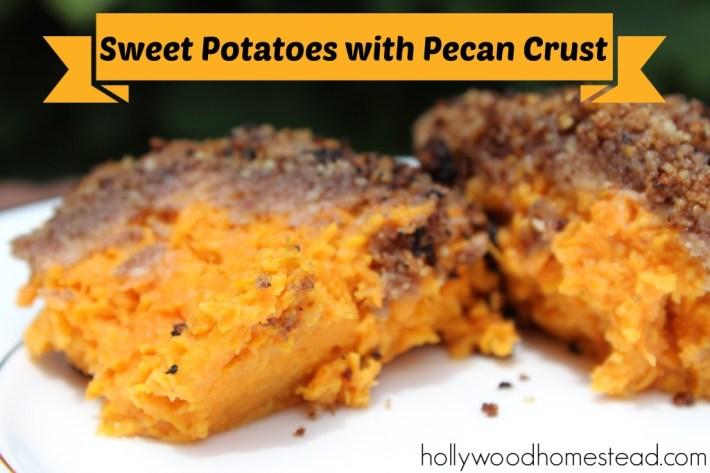Paleo Bourbon Pecan Smashed Sweet Potatoes