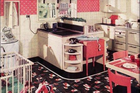 retro kitchen set furniture