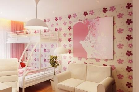 pink white girls room decor