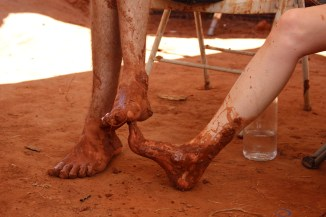 muddy couple feet earthbag building