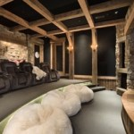 home theater in a cave