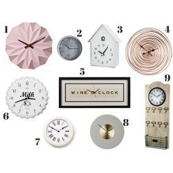 Small Crop Of Unique Wall Clocks
