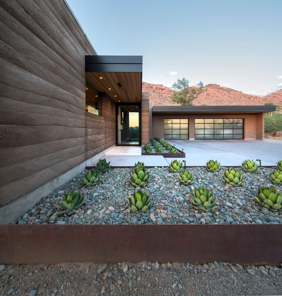 Fantastic Rammedearth By Kendle Lowes Scottsdale A Southwestern A Brown Exterior A Olympic A Entry Lowes Scottsdale houzz-03 Lowes Newton Nj