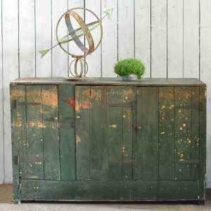 Vintage Dairy Cupboard Featuring Original Rustic Green Paintwork