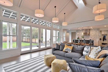 cathedral ceiling. living room cathedral ceiling. open concept cathedral ceiling. open concept kitchen and living room cathedral ceiling. cathedral ceiling interiors. cathedralceiling redbud custom homes.