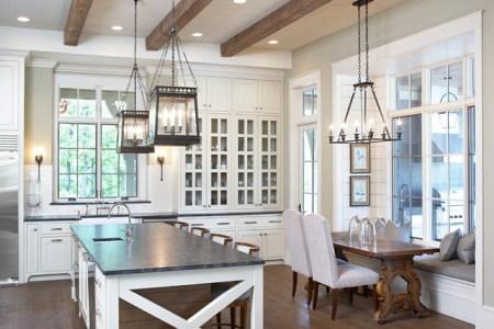 kitchen ideas. kitchen and nook ideas. beautiful kitchen with white cabinets and nook. kitchen kitchennook nook kitchenideas