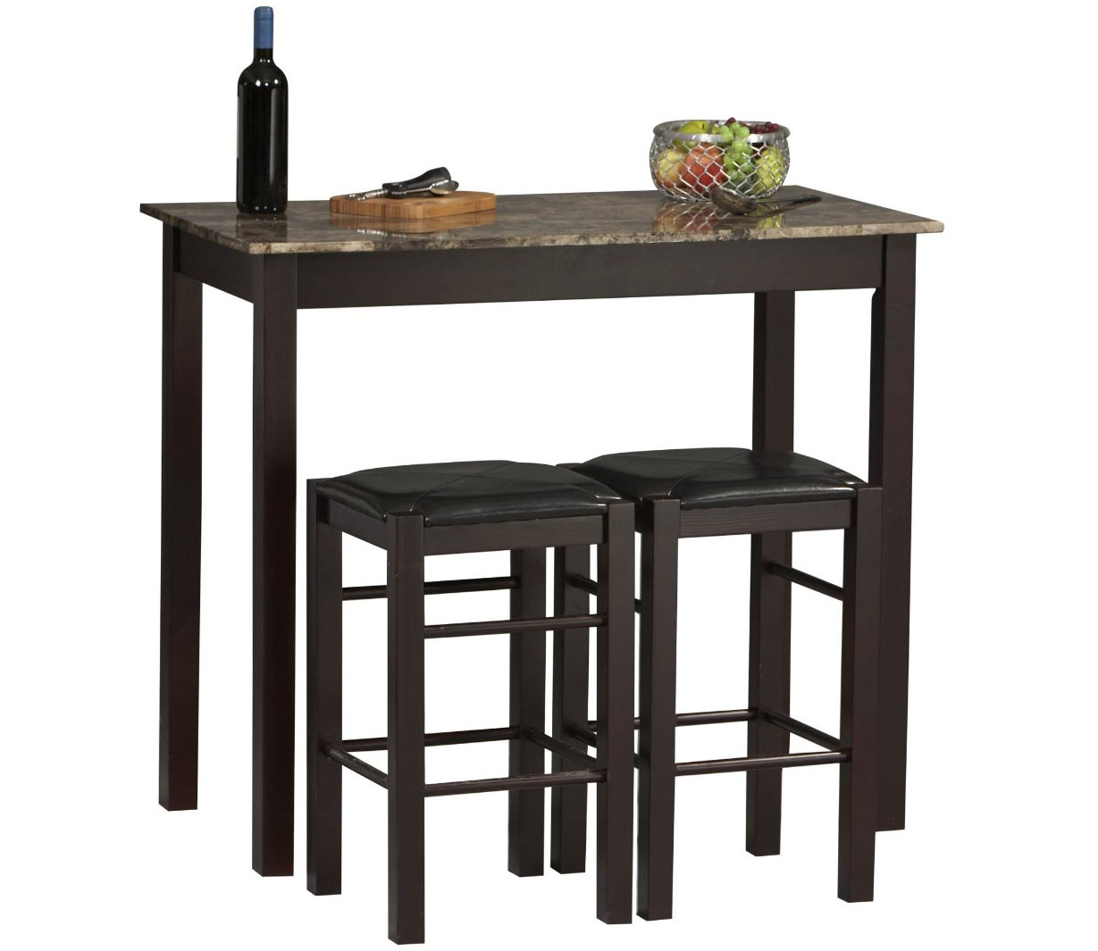 kitchen table sets rectangle kitchen table Rectangular Bar Table Set with Stools