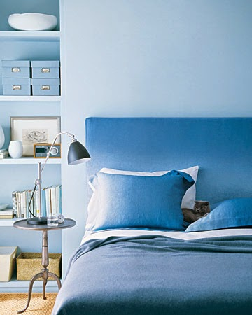 Monochromatic Blue Bedroom