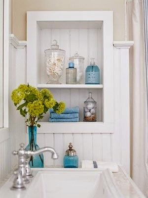 Open Shelves in bathrooms