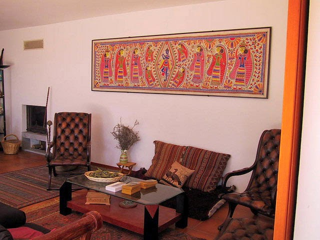 Traditional indian homes home decor designs for Ethnic home decor