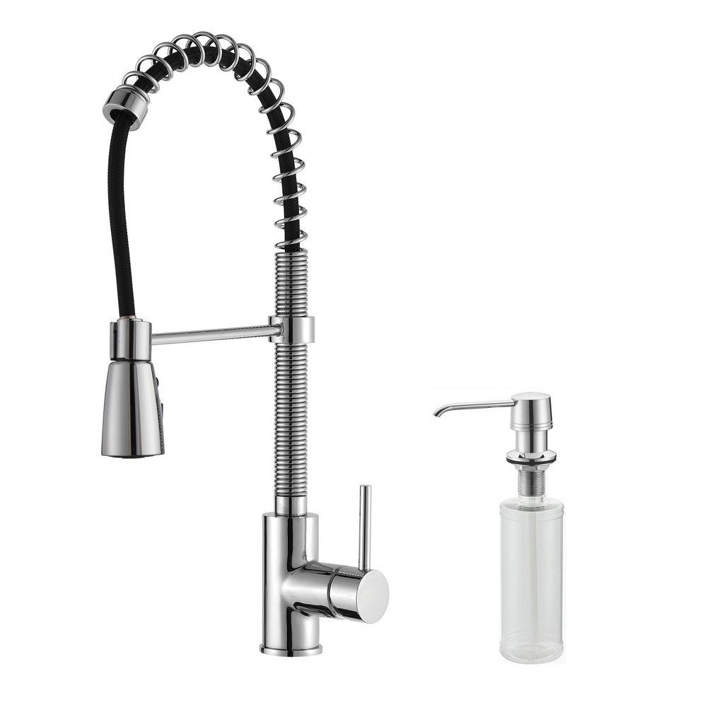 N npoi wall mount kitchen faucet Commercial Style Single Handle Pull Down Kitchen Faucet with Three Function
