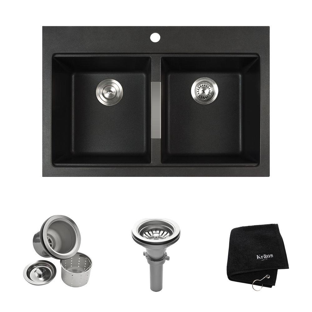 kitchen sink kit 50 50 Double Basin Kitchen Sink Kit in