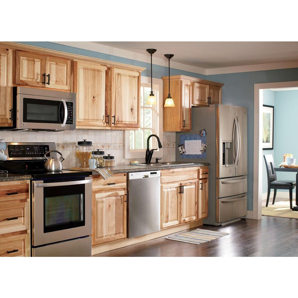 kitchen cabinets home depot Hampton Bay 91 in Crown Molding in Natural Hickory KAMC5 NHK The Home Depot