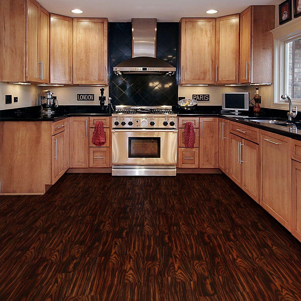 vinyl kitchen flooring TrafficMASTER Take Home Sample Rosewood Ebony Resilient Vinyl Plank Flooring 4 in 4 in The Home Depot