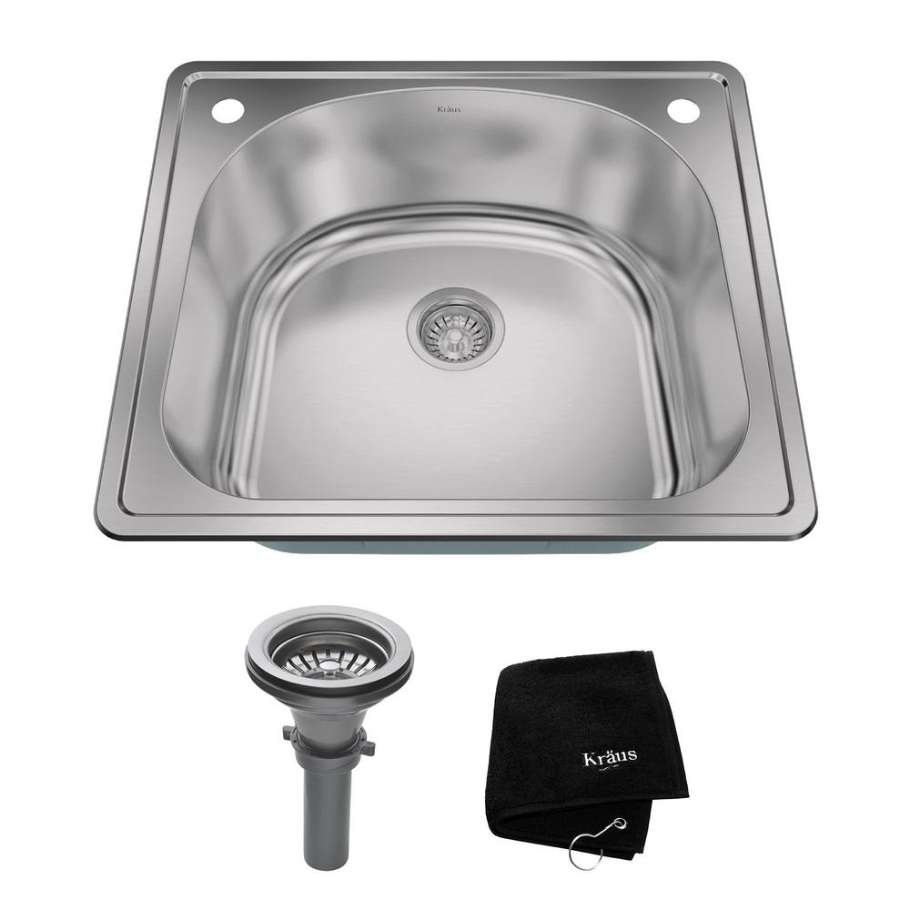 kitchen sink kit 2 Hole Single Basin Kitchen Sink Kit