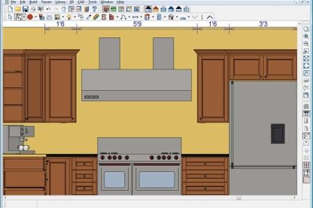 yellow tile kitchen elevation