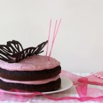 PINK BUTTERFLY CAKE {dairy-free}