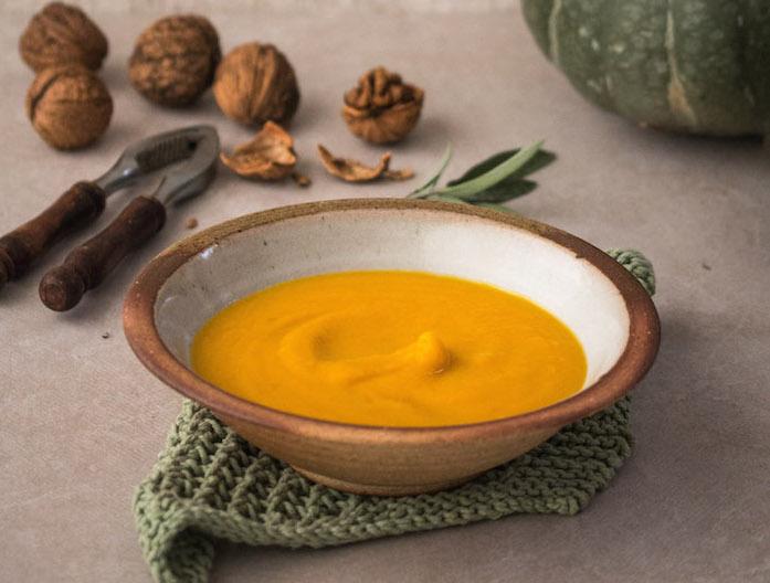 A Simple Pumpkin & Chestnut Soup