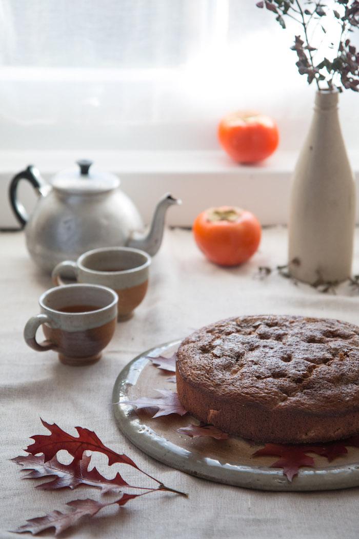 Persimmon & Red Bush Teacake   HOMEGROWN KITCHEN